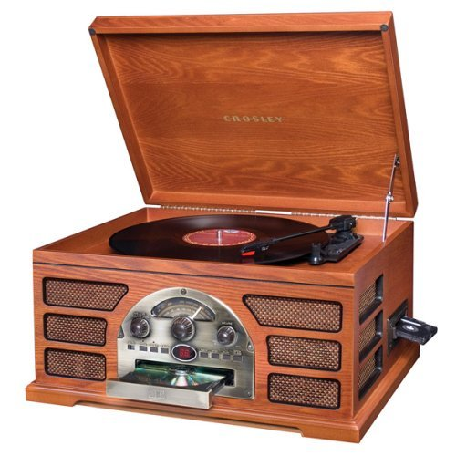of this Crosley record player, combined with the builtin CD player
