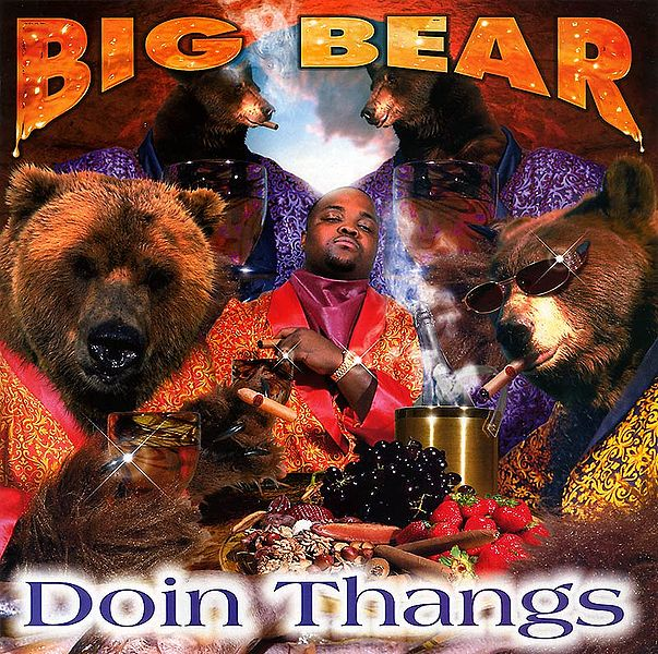 big bear doin thangs bad album art
