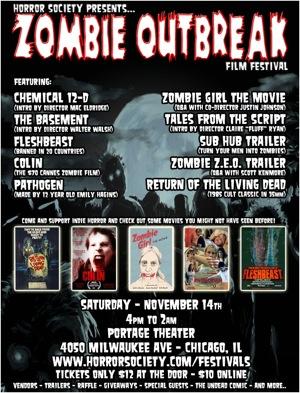 zombie outbreak film festival portage theater