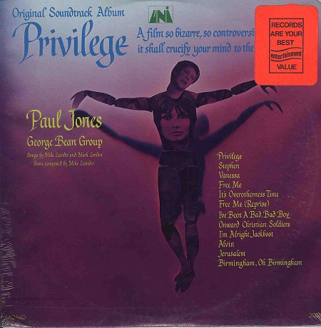 Privilege Original Soundtrack Peter Watkins vinyl