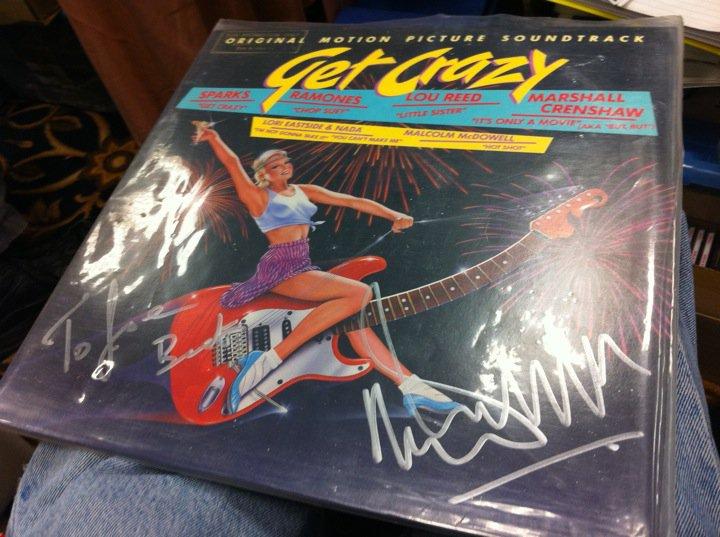 Get Crazy Autographed Malcom McDowell