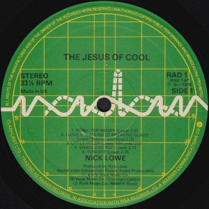 The Jesus of Cool Radar side 1 (Discogs)
