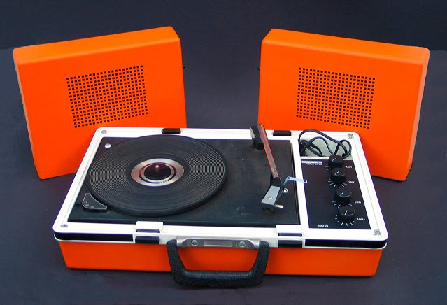 60s retro turntable orange