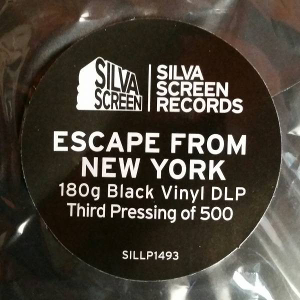 Silva Screen Records Escape From New York vinyl